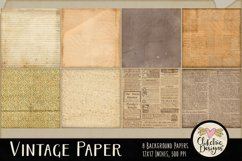 Vintage Paper Backgrounds - Vintage Texture Digital Papers Product Image 2