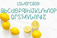 Lemons and Sugar- A Fun Hand-Written Mismatched Font Product Image 3