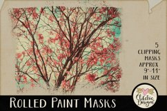 Clipping Masks - Rolled Paint Photoshop Masks & Tutorial Product Image 5
