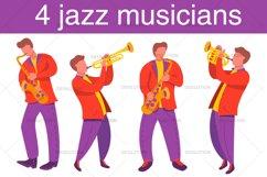 Jazz musicians trombone, saxophone. Product Image 1