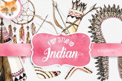 """Watercolor tribal clipart """"TRIBAL CLIP ART"""" dream catcher Product Image 1"""