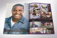 Purple Gold Funeral Program Word Publisher Template 8 Pages Product Image 4