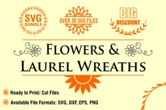 Flowers and Laurel Wreaths SVG Bundle Product Image 1