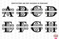 Traditional Split Monogram - Alphabets A to Z EPS SVG DXF Product Image 2