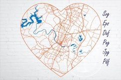 Austin Texas city road map svg, eps, dxf, png, jpg Product Image 1