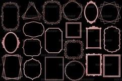 Rose Gold Frames Clipart Set of 20 Product Image 2