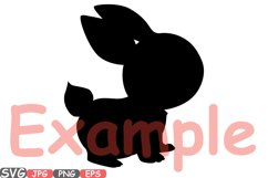 Easter bunny SVG shirt bunny ears outline frame 635S Product Image 2