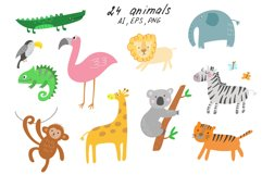 Jungle Animals Clip Art Product Image 2