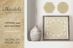 Mandala SVG | Flower Cut File Product Image 1