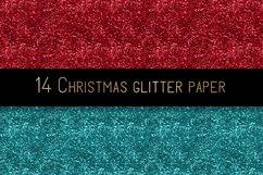 Christmas glitter digital paper Product Image 6