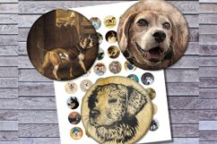 Vintage Dogs, Dogs Images, Digital Collage Sheet, Printables Product Image 3