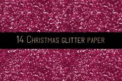 Christmas glitter digital paper Product Image 4