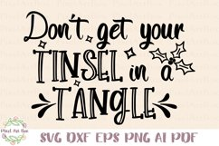 Don't Get Your Tinsel In A Tangle - Cut File Product Image 1