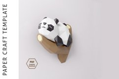 PDF Template of Panda on Tree/ Papercraft Template/ 3D Paper Product Image 2