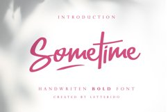 Sometime Handwritten Bold Font Product Image 1