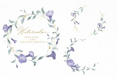 Watercolor Flowers Wreaths Gold Frames Wedding Wildflowers Product Image 5