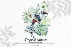 Tropical summer. Watercolor set. Product Image 1