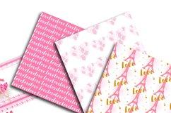 Love in Paris Digital Paper  Product Image 4