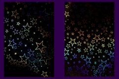 32 Holographic Stars Photography Backgrounds Product Image 6