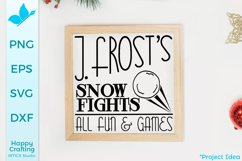 Jack Frost's Snow Fights - A Winter Sign Craft File Product Image 1