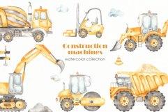 Construction machines watercolor Product Image 1