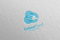 Color Food Logo for Restaurant or Cafe 67 Product Image 2