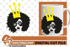 5x Black Woman Bundle SVG, Afro Lady svg, file,Lady in Crown Product Image 5