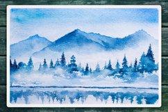 Winter Landscapes set#2. Watercolor. Product Image 3