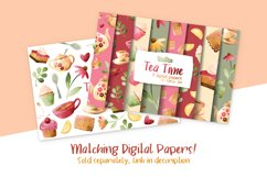 Tea Time Watercolor Cliparts Product Image 4