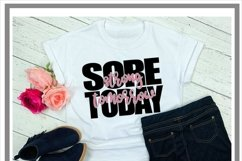 Sore Today Strong Tomorrow Fitness SVG Product Image 2
