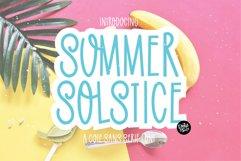 SUMMER SOLSTICE a Cute Sans Serif Font Product Image 1
