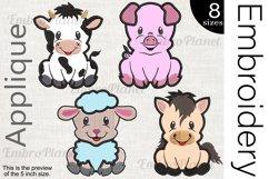 Applique Farm Animals - Embroidery Files - 1473e Product Image 1