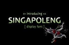 Singapoleng Font Product Image 1