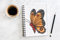 Butterfly Steampunk Style | SVG file Product Image 4