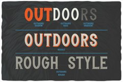 Outdoors Layered Font Product Image 4