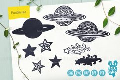 Planets Svg, Universe Svg, Space Svg, Pdf, Dxf, Png, Eps Product Image 3