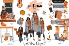 FALL CLIPART - AUTUMN GIRL BOSS, Planner Graphics Product Image 1