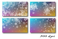 Christmas Backgrounds. 12 snowflake digital paper Product Image 4