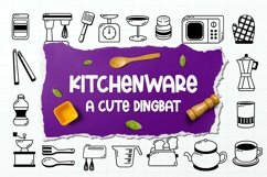 Web Font Kitchenware Dingbat Product Image 1