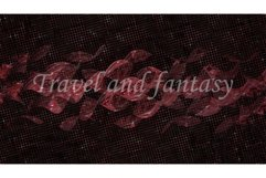 Abstract dark background with red spirals. Design, art Product Image 1