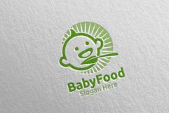 Baby Food Logo for Nutrition or Supplement Concept 76 Product Image 4