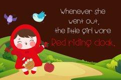 Little red riding hood Handwritten- cute kid font Kawaii Product Image 4
