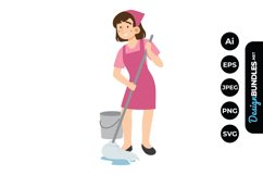 House Cleaning Woman Clipart Product Image 1