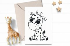 Cute baby giraffe, SVG, PNG, EPS. Product Image 4