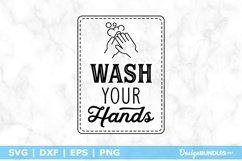 Funny Bathroom Sign - Wash Your Hands SVG Product Image 1