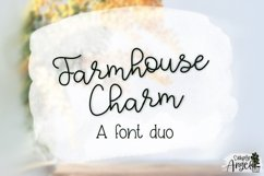 Farmhouse Charm - a smooth handwritten script font duo Product Image 5