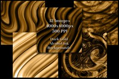 Dark Gold Alcohol Ink Backgrounds - 12 Image Set Product Image 3