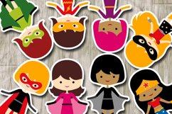 More girl superhero clipart graphics / superheroes girls Product Image 3