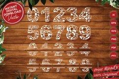 Papercut Heart Numbers Set, Numerical Monogram SVG Cut Files Product Image 1