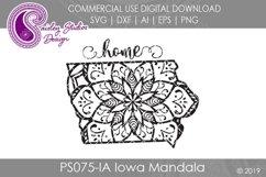 Mandala Iowa Home SVG DXF Ai EPS PNG Product Image 1
